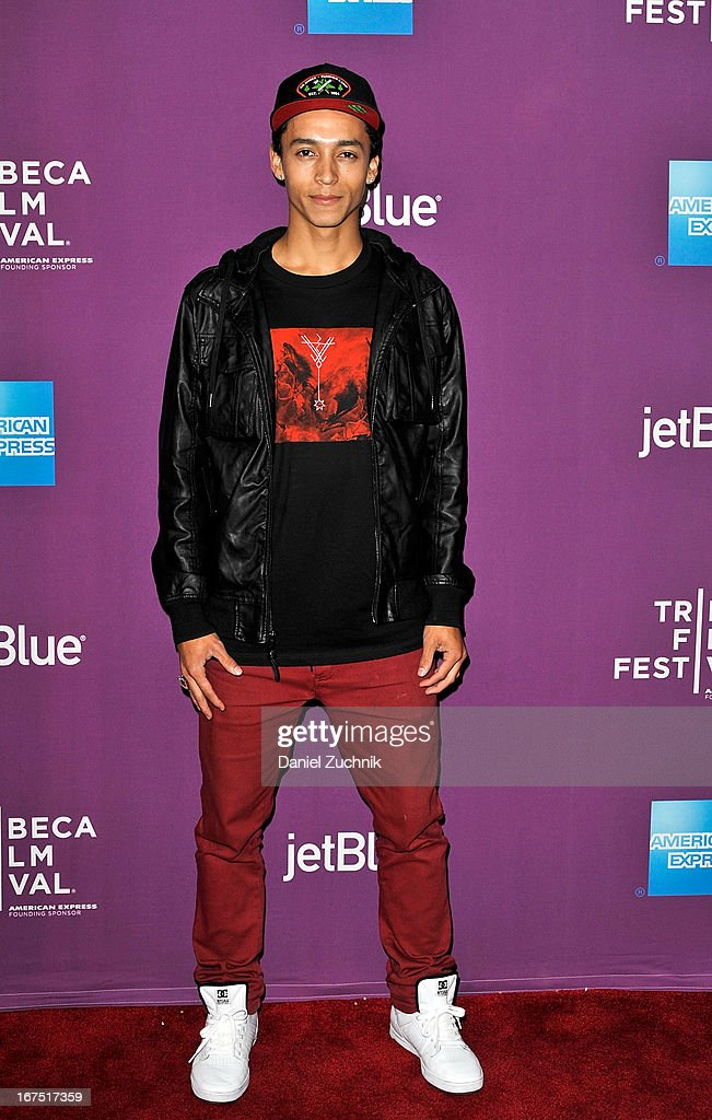 Skateboarder Nyjah Huston attends the premiere of 'The Motivation' during the 2013 Tribeca Film Festival at SVA Theater on April 25, 2013 in New York City.