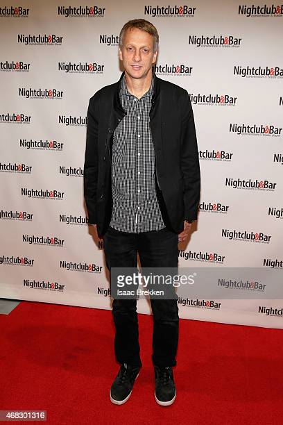 Skateboarder/Entrepreneur Tony Hawk attends the 30th annual Nightclub Bar Convention and Trade Show at the Las Vegas Convention Center on April 1...