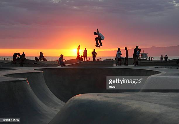 Skateboarding at Venice Beach