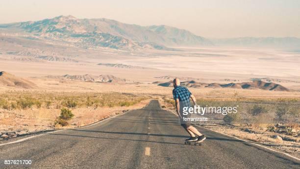 Skateboarden Death Valley