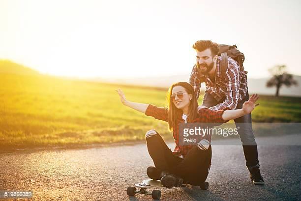 Skate amigos, divertir-se