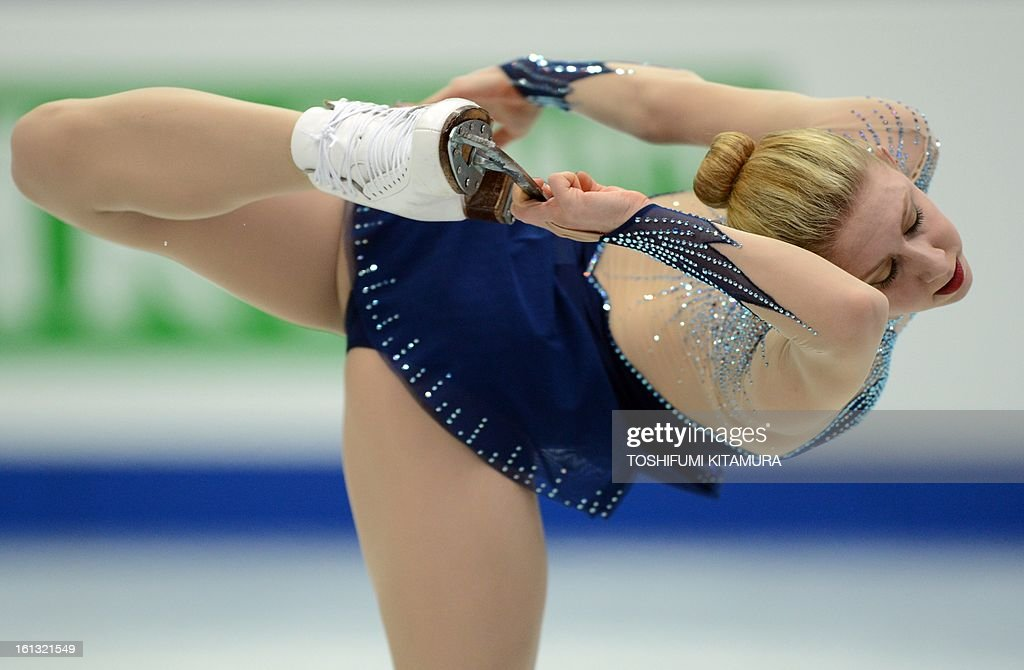 US skater Agnes Zawadzki performs in the ladies free skating event at the Four Continents figure skating championships in Osaka on February 10, 2013.