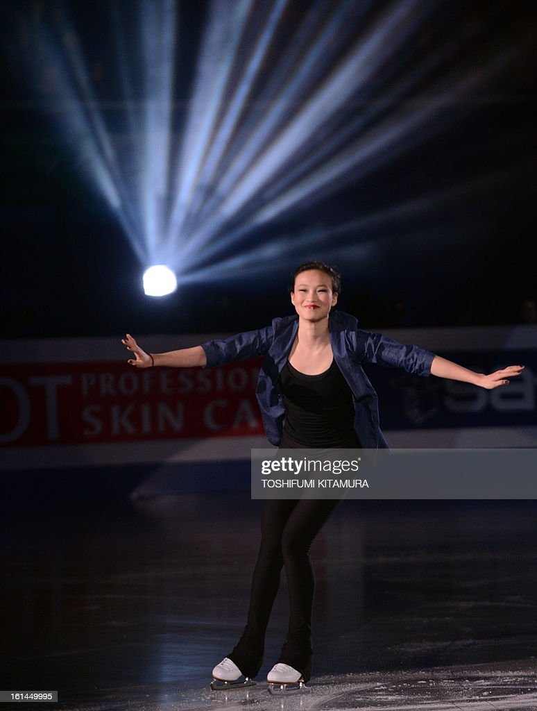 US skater Christina Gao performs her ladies routine in the gala exhibition event after the Four Continents figure skating championships in Osaka on February 11, 2013.
