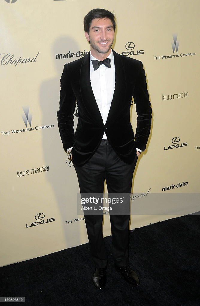 Skater Evan Lysacek arrives for the Weinstein Company's 2013 Golden Globe Awards After Party - Arrivals on January 13, 2013 in Beverly Hills, California.