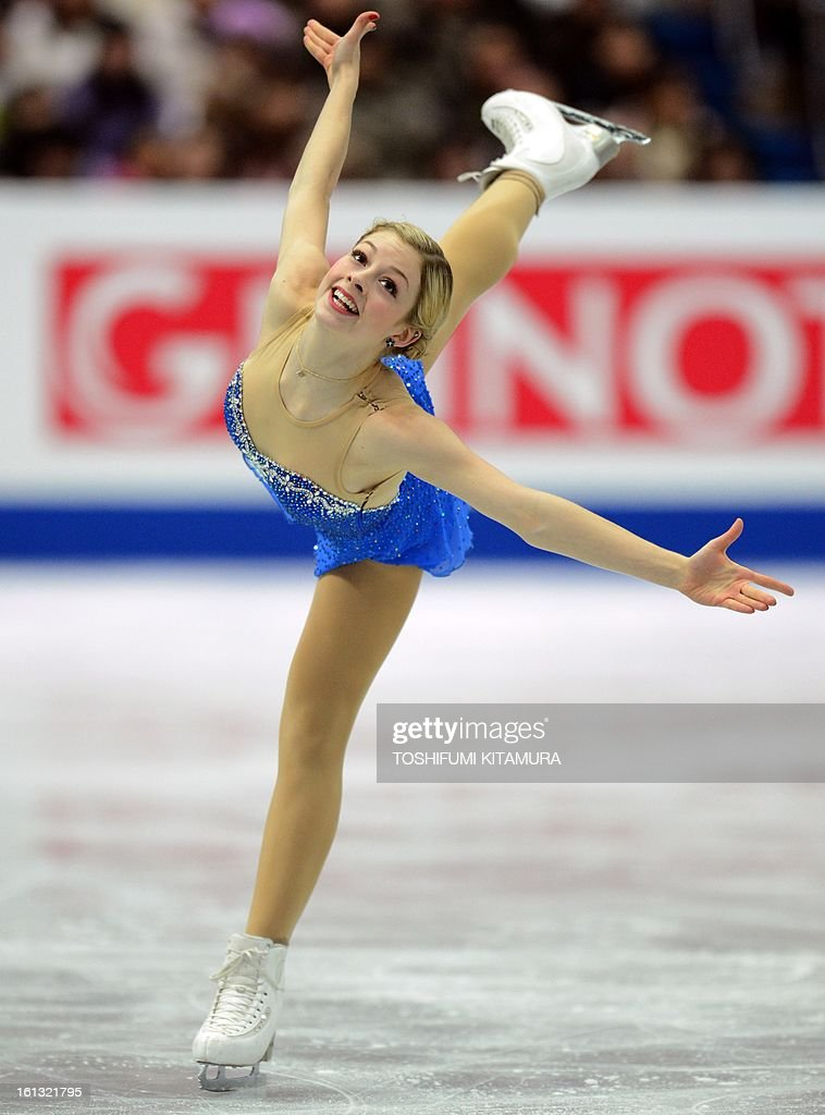 US skater Gracie Gold performs in the ladies free skating event at the Four Continents figure skating championships in Osaka on February 10, 2013.
