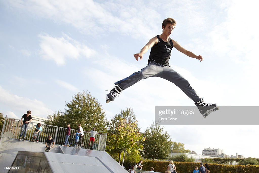 Skater in the air : Stock Photo