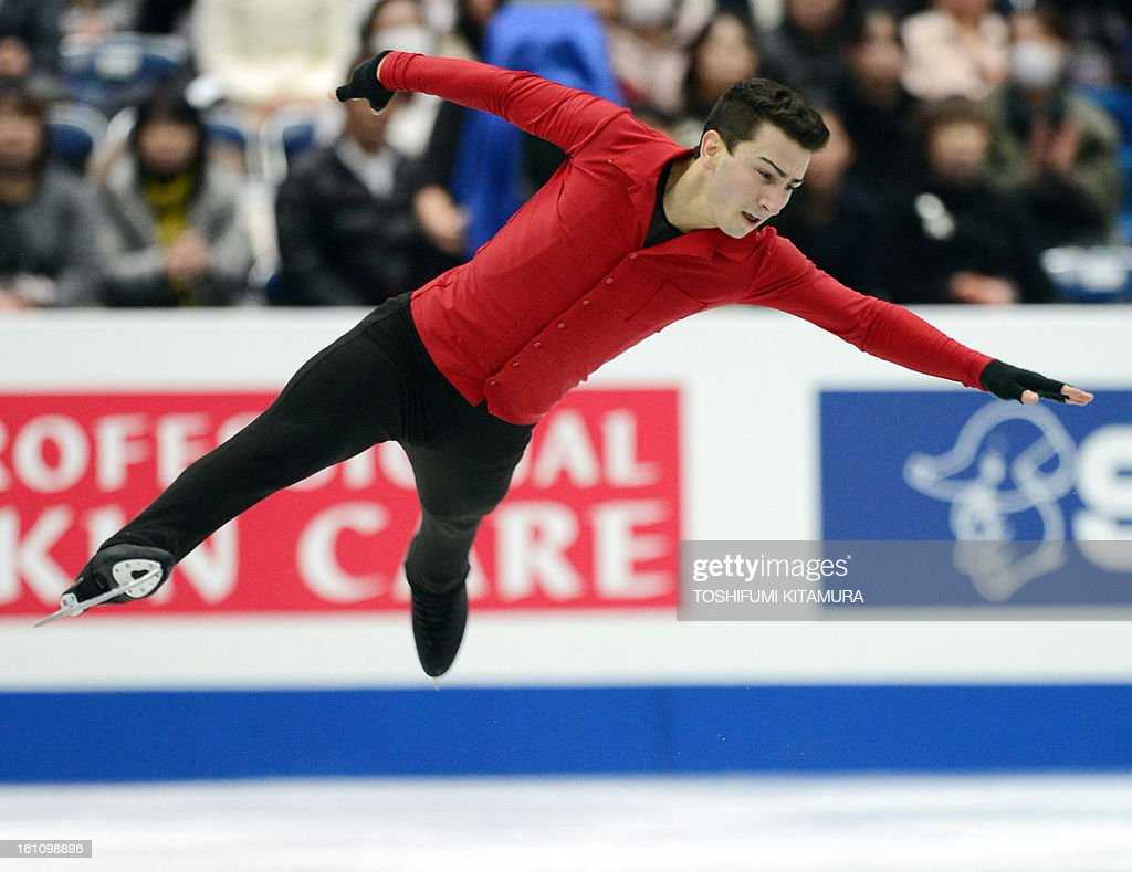 US skater Max Aaron performs his free skating in the men's event during the Four Continents figure skating championships in Osaka on February 9, 2013.