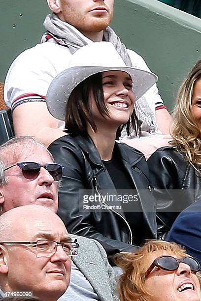 Skater Nathalie Pechalat attends the 2015 Roland Garros French Tennis Open Day Five on May 28 2015 in Paris France