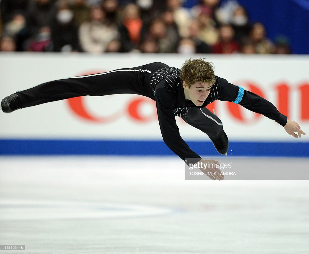 US skater Richard Dornbush performs during the men's free skating event during the Four Continents figure skating championships in Osaka on February 9, 2013.
