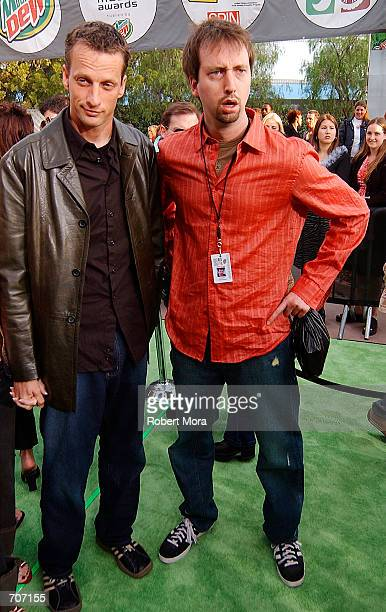 Skater Tony Hawk and comedian Tom Green attend the 2002 ESPN Action Sports Music Awards at Universal Ampitheater April 13 2002 in Universal City CA