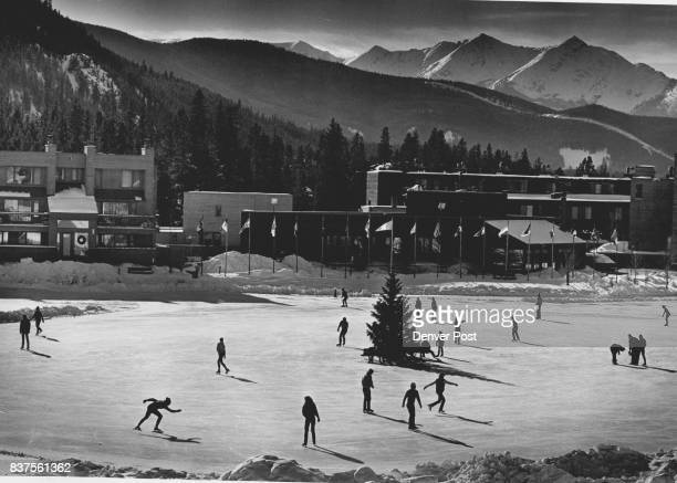 Skaters at Keystone enjoyed a sunny day on the lake near lodges and shops on Sunday 1215 Credit The Denver Post