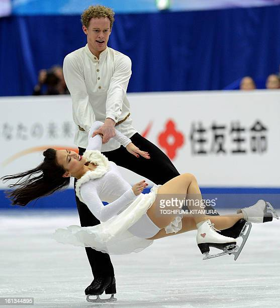 US skaters Madison Chock and Evan Bates perform during their ice dance free dance event at the Four Continents figure skating championships in Osaka...