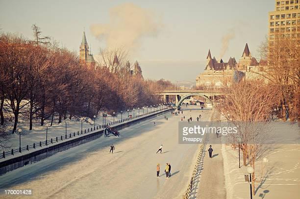 Skating on the Ottawa Rideau Canal