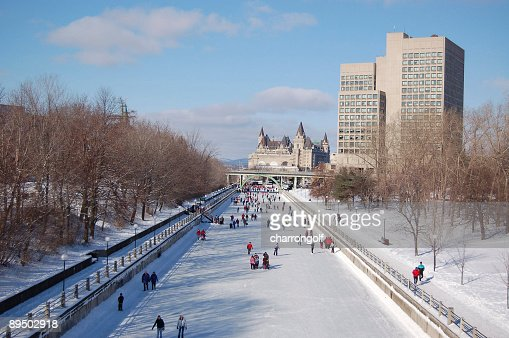 Skating on the Rideau Canal in Ottawa (UNESCO)