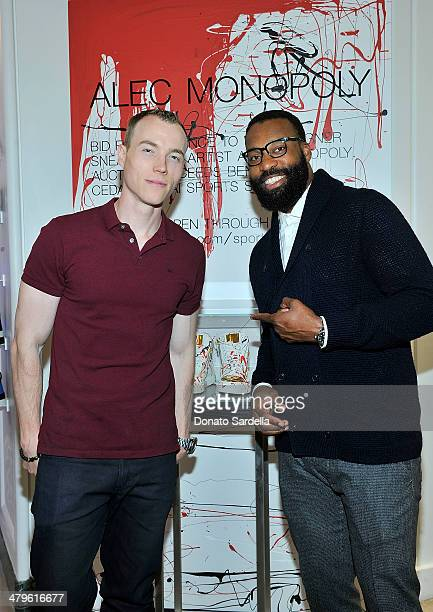 Skee and Baron Davis attend Saks Sneaks at Saks Fifth Avenue Beverly Hills on March 19 2014 in Beverly Hills California