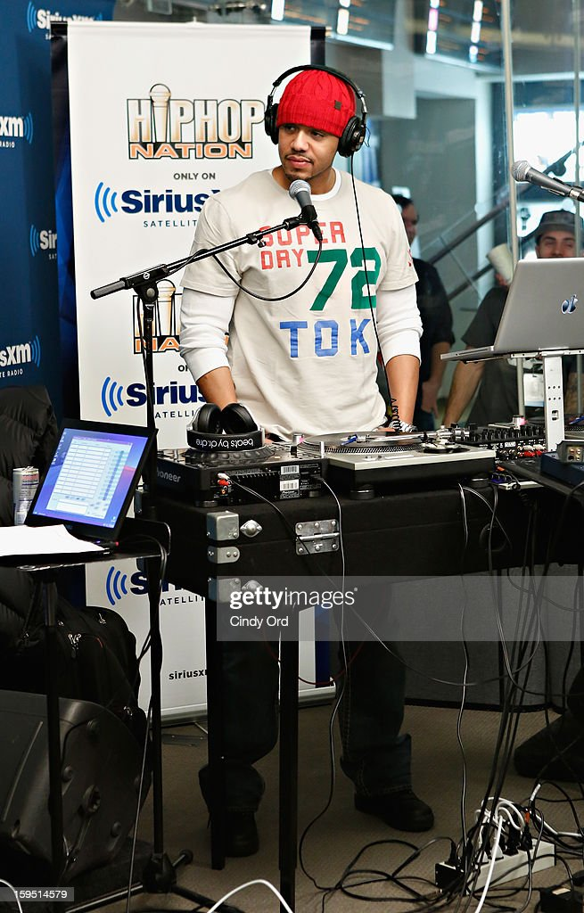 DJ Skee spins during the A$AP Rocky Live Album Release Party on Hip-Hop Nation at SiriusXM Studios on January 14, 2013 in New York City.