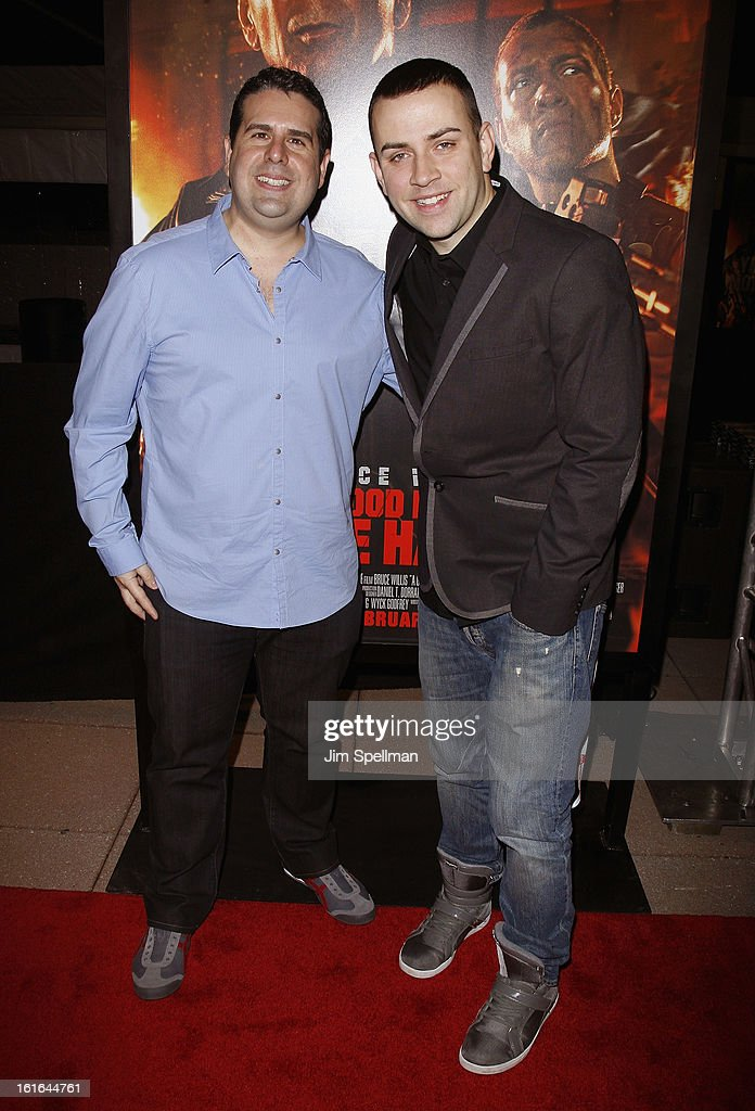 Skeery Jones and Garrett attend the 'A Good Day To Die Hard' Fan Celebration at AMC Empire on February 13, 2013 in New York City.