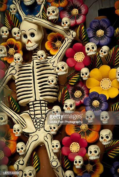 Skeleton and skulls