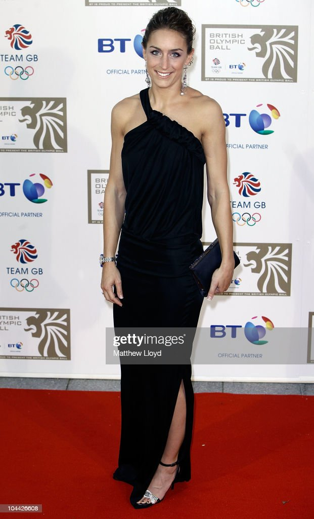 Skeleton athlete and Olympian Amy Williams poses on the red carpet at the British Olympic Ball at Grosvenor House hotel on September 24, 2010 in London, England. Over 60 Olympic medallists joined an audience of over 1100 to raise funds for Team GB ahead of the London 2012 Olympic Games.