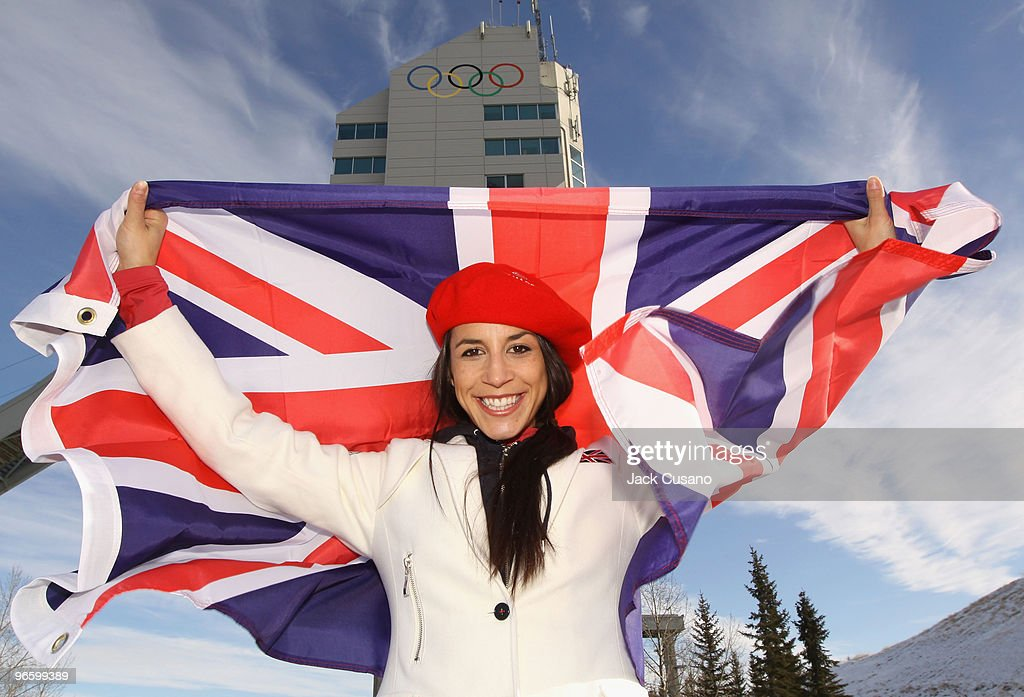 00 ON 11TH FEBRUARY VANCOUVER TIME) Skeleton athlete <a gi-track='captionPersonalityLinkClicked' href=/galleries/search?phrase=Shelley+Rudman&family=editorial&specificpeople=722346 ng-click='$event.stopPropagation()'>Shelley Rudman</a>, who was selected to be the Team GB Flag Bearer at the Opening Ceremony of the Vancouver 2010 Olympic Winter Games on 12th February, poses on February 10, 2010 in Calgary, Alberta, Canada. Rudman is an Olympic silver medallist from Turin 2006 and will lead the Team GB contingent of 52 athletes from 11 sport disciplines into the BC Place stadium in Vancouver.