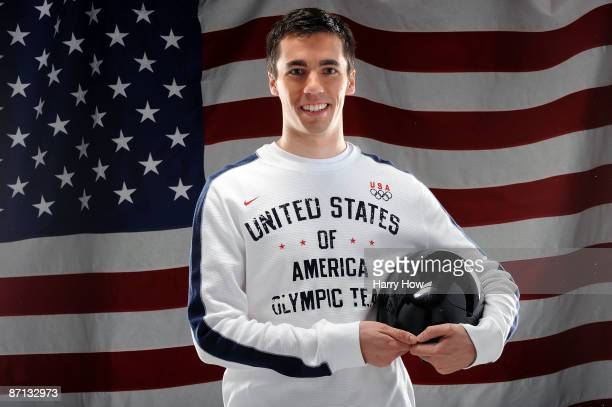 Skeleton competitor Matt Antoine poses for a portrait during the NBC/USOC Promotional Photo Shoot on May 12 2009 at Smashbox Studios in Los Angeles...