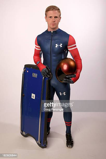 Skeleton Racer John Daly poses for a portrait during the USOC Media Summit ahead of the Sochi 2014 Winter Olympics on October 1 2013 in Park City Utah