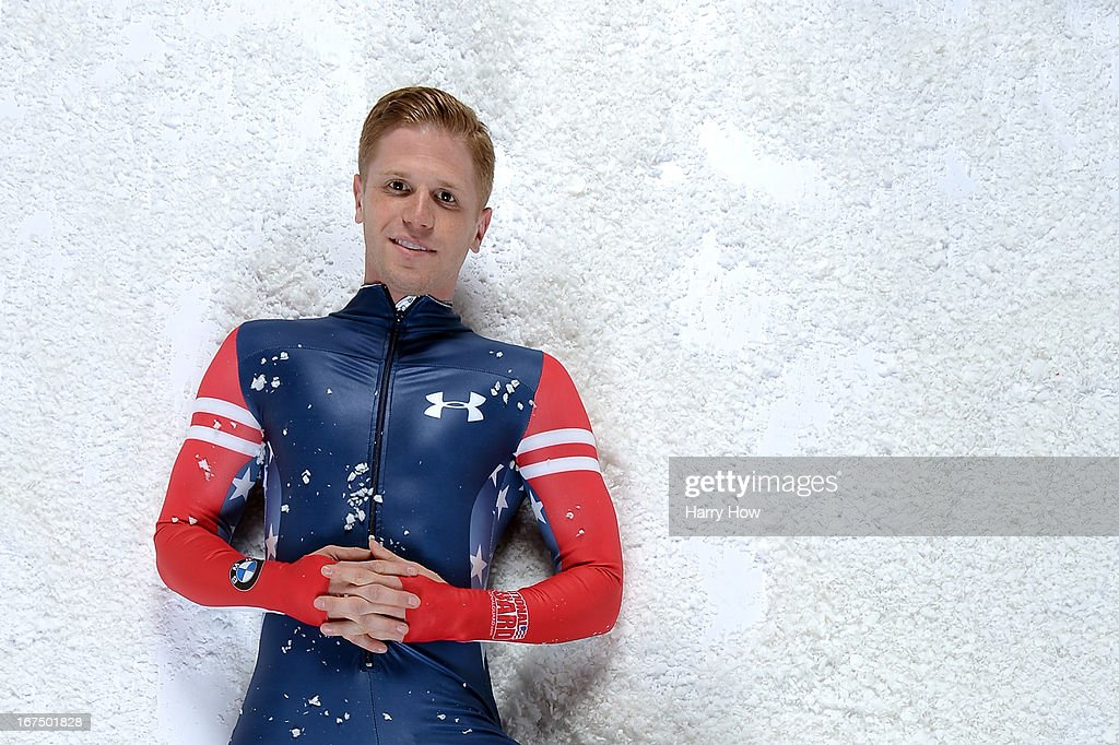 Skeleton racer John Daly poses for a portrait during the USOC Portrait Shoot on April 25, 2013 in West Hollywood, California.