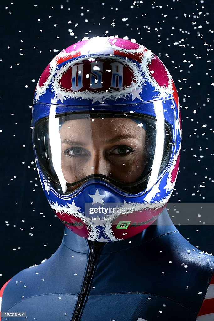 Skeleton racer Noelle PikusPace poses for a portrait during the USOC Portrait Shoot on April 23 2013 in West Hollywood California