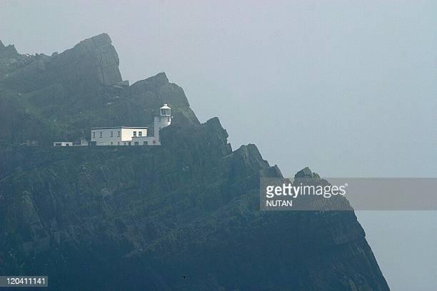 Skellig Island Ireland The lighthouse of Skellig Michael nestles among the highest rocks