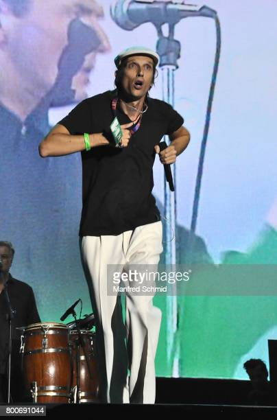 Skero performs on stage a 'Falco Tribute' during the Day 2 at Donauinselfest 2017 at Donauinsel on June 24 2017 in Vienna Austria