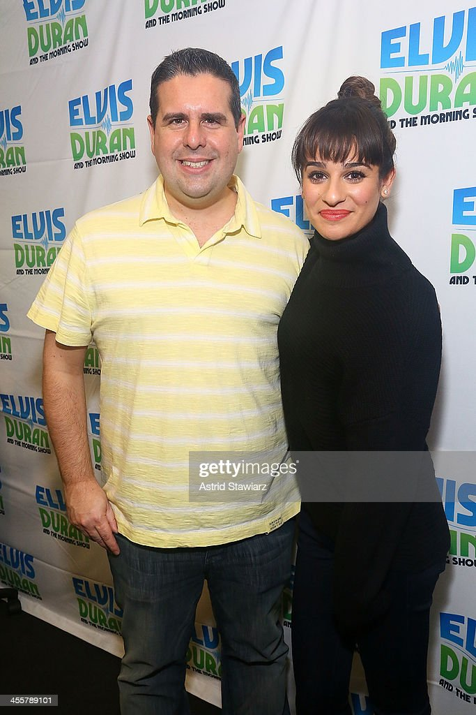 Skerry Jones and Lea Michele visit the Elvis Duran z100 Morning Show at Z100 Studio on December 3, 2013 in New York City.