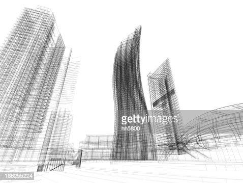 3D Sketch architecture Imagination Blueprint