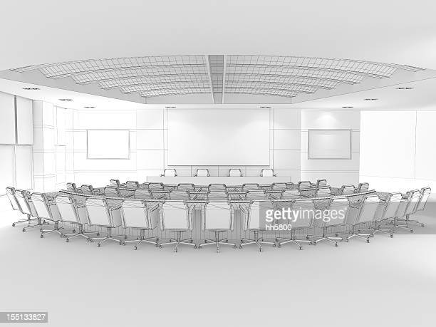 3D Sketch architecture Modern conference room Classroom 2