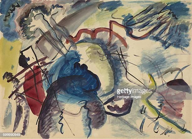 Sketch for Painting with White Border 1913 Found in the collection of Städtische Galerie im Lenbachhaus Munich Artist Kandinsky Wassily Vasilyevich