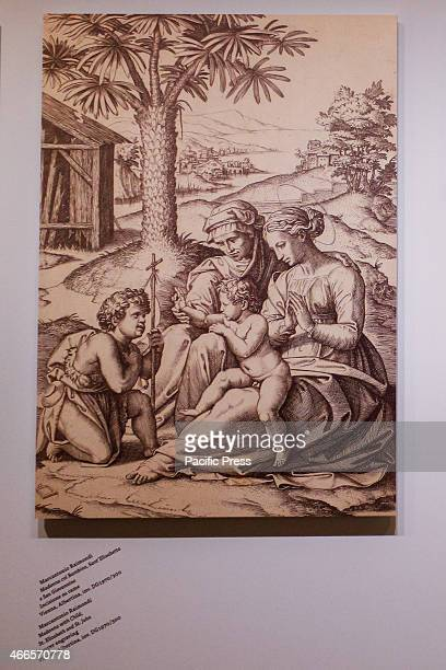 A sketch for the painting 'Madonna del Divino Amore' by Raffaello Sanzio which was exposed for the first time in Turin at Pinacoteca Agnelli until...