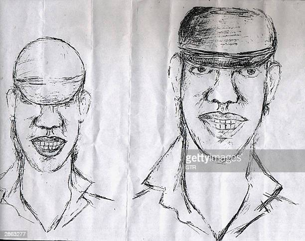 A sketch of a bomber released by Sulawesi police in Palopo 12 January 2004 related to blast which killed four people last week Indonesian police said...