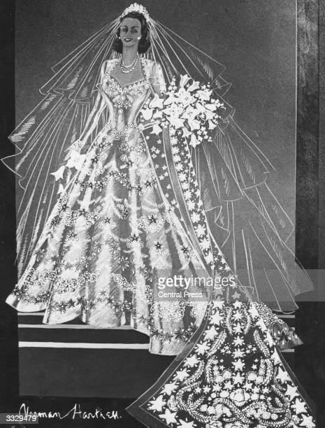 Sir norman hartnell photos et images de collection getty for Wedding dresses norman ok