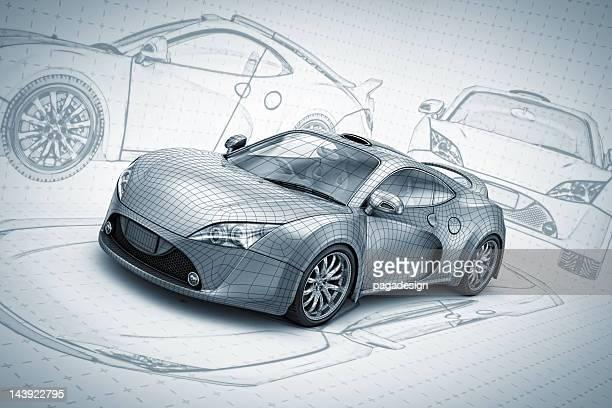 Skizze supercar