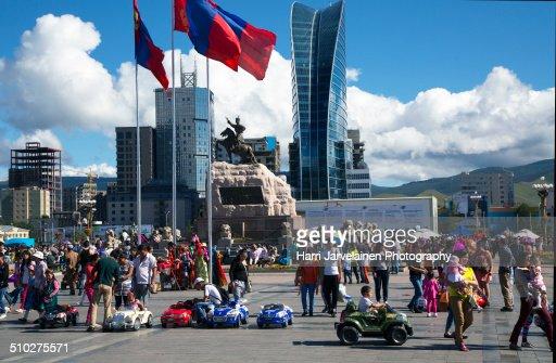 Sükhbaatar Square in Ulaanbaatar, Mongolia