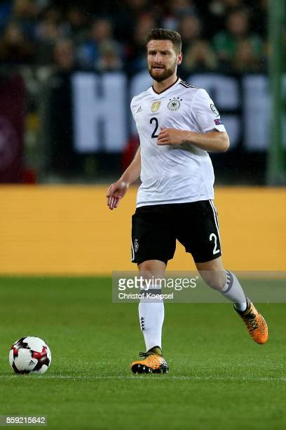 Skhodran Mustafi of Germany runs with the ball during the FIFA 2018 World Cup Qualifier between Germany and Azerbaijan at FritzWalterStadion on...