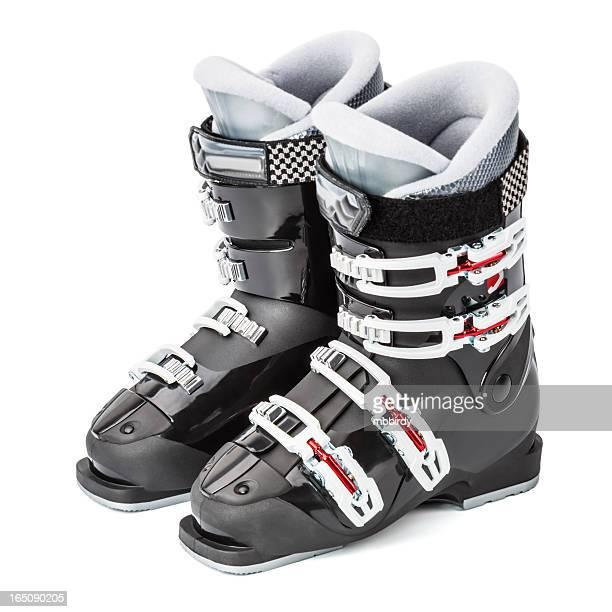 Chaussures de Ski, isolé sur fond blanc