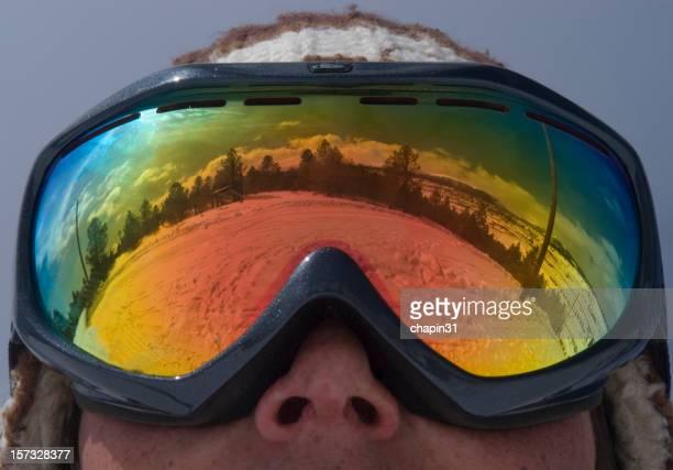 スキー Goggle 反射
