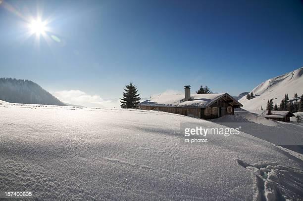 Di sci sulle Alpi