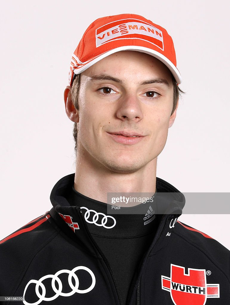 Ski jumper <a gi-track='captionPersonalityLinkClicked' href=/galleries/search?phrase=Andreas+Wank&family=editorial&specificpeople=2507492 ng-click='$event.stopPropagation()'>Andreas Wank</a> of Germany poses during a photo call on October 26, 2010 in Ingolstadt, Germany.