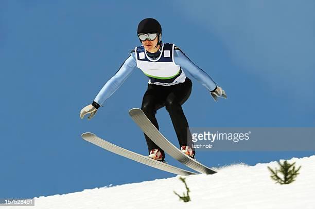 Ski jumper landing