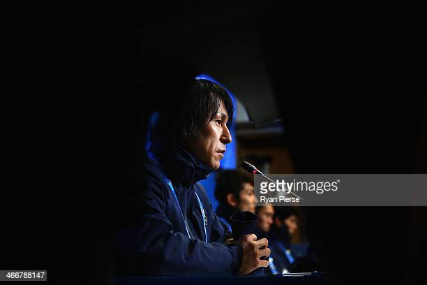 Ski Jumper Noriaki Kasai of Japan attends a press conference at Gorki Press Center ahead of the Sochi 2014 Winter Olympic on February 4 2014 in Sochi...