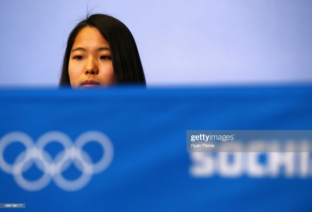 Ski Jumper Sara Takanashi conference at Gorki Press Center ahead of the Sochi 2014 Winter Olympic on February 4 2014 in Sochi Russia