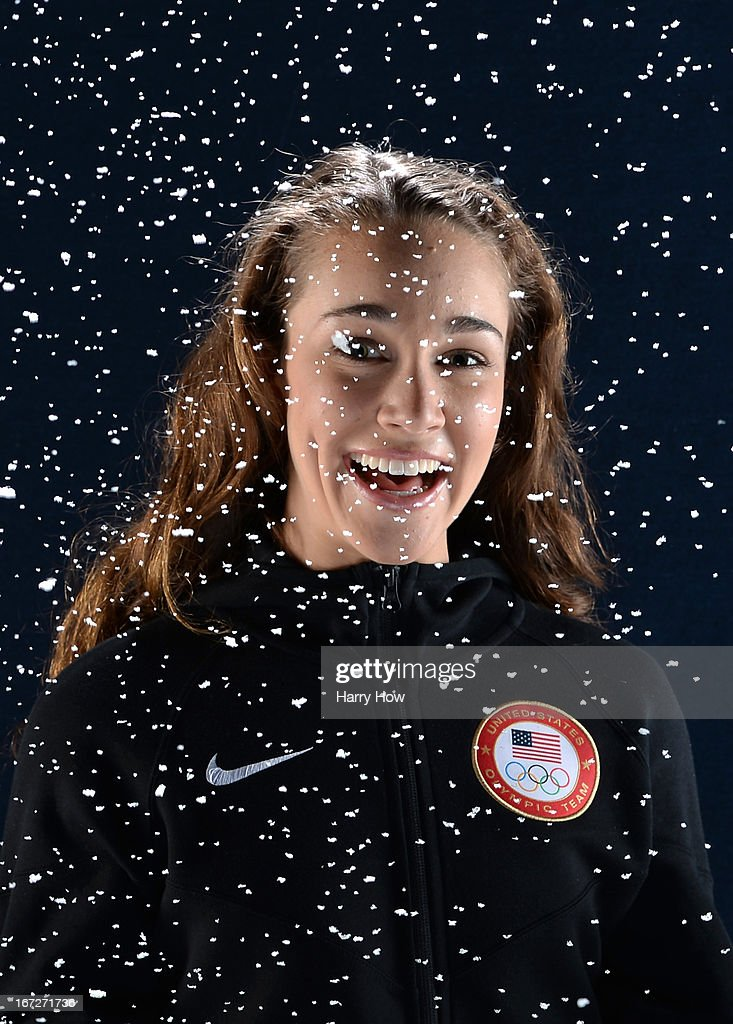 Ski jumper Sarah Hendrickson poses for a portrait during the USOC Portrait Shoot on April 23, 2013 in West Hollywood, California.