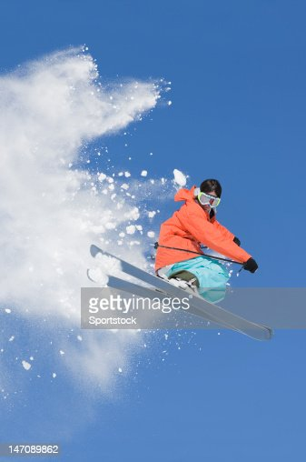 Ski Jumping In Colorado : Stock Photo