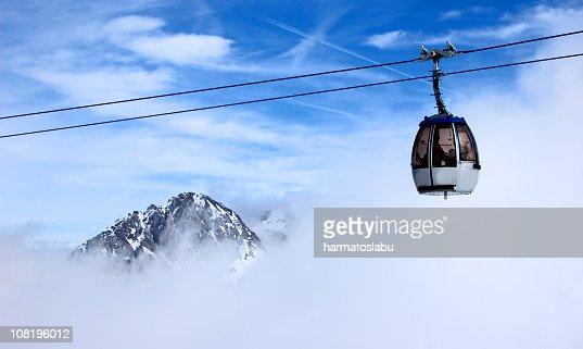 Ski Lift in Clouds